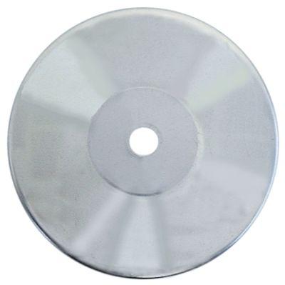 προστατευτική πλάκα Ανοξείδωτο ατσάλι ø 83mm H 11.5mm ø οπής 8mm για διάμετρο τροχού 125mm