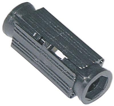 υποδοχή κατάλληλο για τετράγωνοι σωλήνες εξωτερικό μέγεθος 25x25 - 28x28 mm