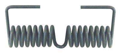 ελατήριο στρέψης ø 21,4mm Μ2 40mm ø διατομής σύρματος 3,3mm Μ1 100mm Μ3 34mm