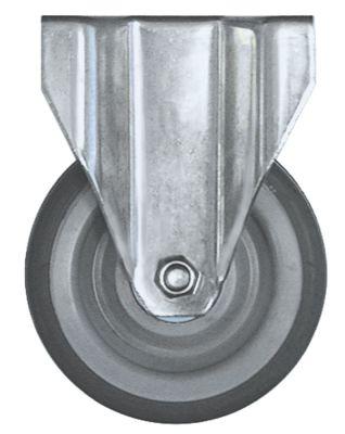 ρόδα βαρύ φορτίου  ø 125mm στερέωση σε πλάκα περίβλημα Ανοξείδωτο ατσάλι
