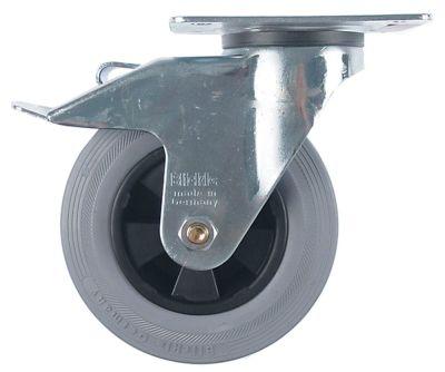 ρόδα με πέδη στροφέα ø 160mm στερέωση σε πλάκα 140x110mm