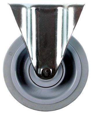 ρόδα βαρύ φορτίου  ø 160mm στερέωση σε πλάκα περίβλημα επιχρωμιωμένο χαλύβδινο φύλλο