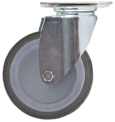 ρόδα ø 125mm στερέωση σε πλάκα περίβλημα επιψευδαργυρωμένο χαλύβδινο φύλλο