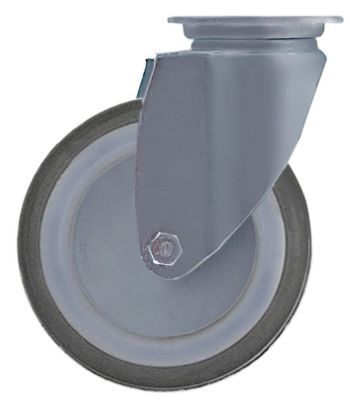 ρόδα ø 125mm στερέωση σε πλάκα περίβλημα ανοξείδωτος χάλυβας
