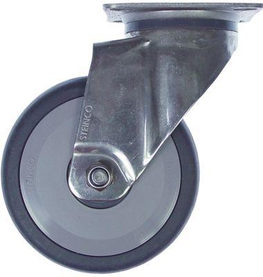 ρόδα ø 100mm στερέωση σε πλάκα περίβλημα ανοξείδωτος χάλυβας