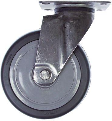 ρόδα ø 125mm στερέωση σε πλάκα 95x70mm περίβλημα Ανοξείδωτο ατσάλι