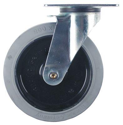 ρόδα ø 200mm στερέωση σε πλάκα 140x110mm περίβλημα επιψευδαργυρωμένο χαλύβδινο φύλλο