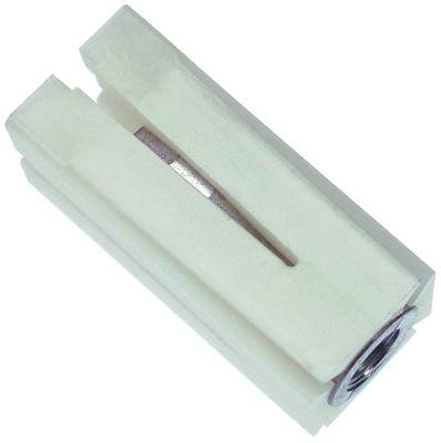 υποδοχή κατάλληλο για τετράγωνοι σωλήνες εξωτερικό μέγεθος 21x21 - 23x23 mm Μ 47mm