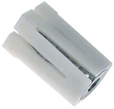 υποδοχή κατάλληλο για τετράγωνοι σωλήνες εξωτερικό μέγεθος 24x24 - 27x27 mm Μ 48mm