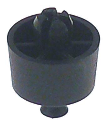 ποδαράκι ø 20mm H 12mm ø διάταξης στερέωσης 7,5mm συνολικό ύψος 18mm πλαστικό Ποσ. 1 τεμ.