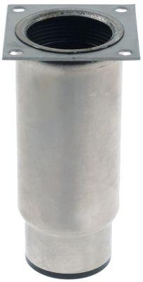 ποδαράκι ø σωλήνα 58mm μέγεθος πλάκας 70x70 mm απόσταση οπής 56x56 mm H 130-210 mm
