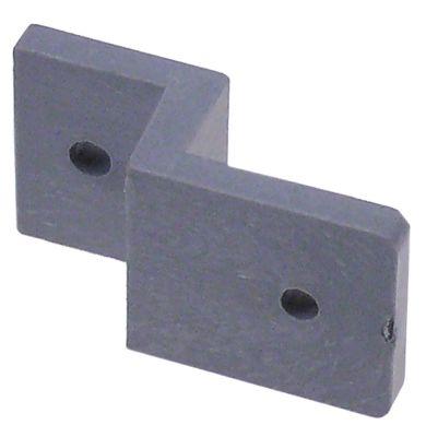 χερούλι για πάγκους με ψύξη για πόρτα τεχνικού θαλάμου Μ 40mm W 22mm H 15mm Z