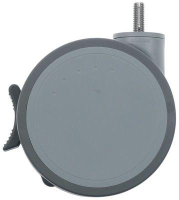 ρόδα με πέδη ø 125mm άξονας με σπείρωμα M10 περίβλημα πλαστικό χωρητικότητα 125kg