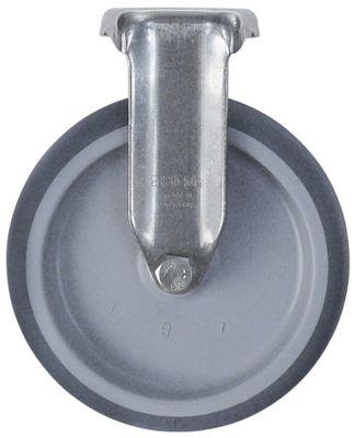 ρόδα βαρύ φορτίου  χωρίς πέδη ø 125mm στερέωση σε πλάκα 57x48mm περίβλημα