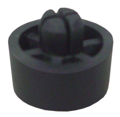 ποδαράκι ø 20mm H 10mm ø διάταξης στερέωσης 8mm συνολικό ύψος 15mm ελαστικό Ποσ. 1 τεμ.
