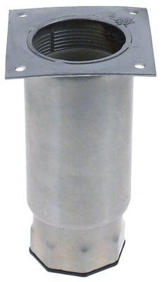 ποδαράκι ø σωλήνα 64mm μέγεθος πλάκας 82x82 mm απόσταση οπής 65x65 mm H 135-200 mm