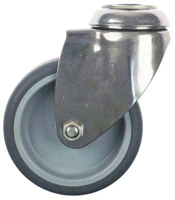 ρόδα ø 100mm οπή μπουλονιού ø οπής μπουλονιού 11mm περίβλημα ανοξείδωτος χάλυβας χωρητικότητα 80kg