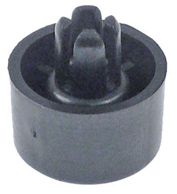 ποδαράκι ø 20mm H 12mm ø διάταξης στερέωσης 8mm μετρήσεις στερέωσης 19mm συνολικό ύψος 19mm