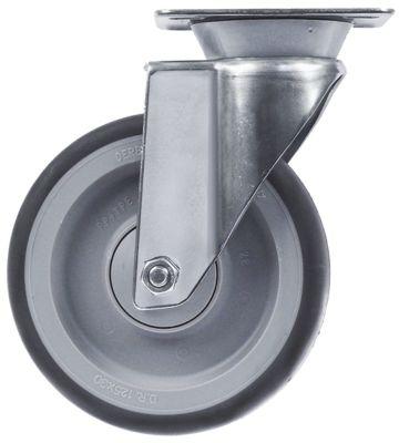 ρόδα ø 125mm στερέωση σε πλάκα περίβλημα Ανοξείδωτο ατσάλι