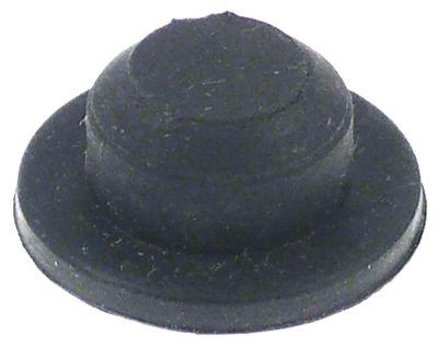 ποδαράκι ø 21mm H 3mm ø διάταξης στερέωσης 13mm συνολικό ύψος 10mm για μικροκύματα ελαστικό