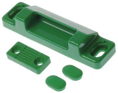 κλείστρο πόρτας απόσταση στερέωσης 100mm W 32mm Μ 120mm H 23mm πράσινο τυποπ. διάσταση 52mm