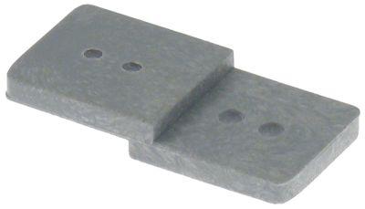 χερούλι για πάγκους με ψύξη για πόρτα τεχνικού θαλάμου Μ 46mm W 22mm H 7mm Z