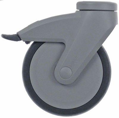 ρόδα με πέδη στροφέα ø 125mm οπή μπουλονιού ø οπής μπουλονιού 10.5mm περίβλημα πλαστικό