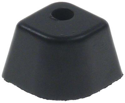equipment foot L 37mm W 29,5mm H 20mm hole ø 7mm
