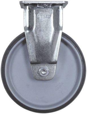 ρόδα βαρύ φορτίου  ø 125mm στερέωση σε πλάκα περίβλημα επιψευδαργυρωμένο χαλύβδινο φύλλο