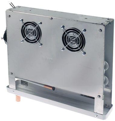 εξατμιστής Μ 360mm H 295mm πάχος 70mm θέση στερ. πλευρικό 110m³/h - 1,5m/s