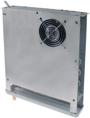 εξατμιστής Μ 380mm H 425mm πάχος 70mm θέση στερ. κέντρο 130m³/h - 1,8m/s