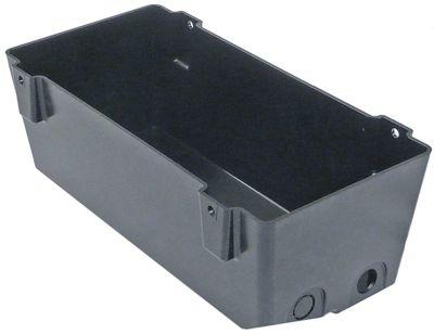 δίσκος συμπύκνωσης οριζόντια Μ 300mm W 140mm H 100mm με οπή για τη φύσιγγα θέρμανσης PTC (3/8