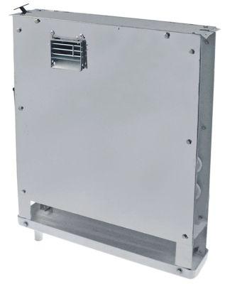 εξατμιστής Μ 380mm H 425mm πάχος 70mm θέση στερ. κέντρο 122m³/h - 2m/s  με 2 ανεμιστήρες