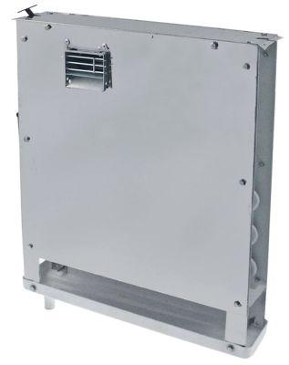 εξατμιστής Μ 482mm H 425mm πάχος 70mm θέση στερ. κέντρο 118m³/h - 1,9m/s