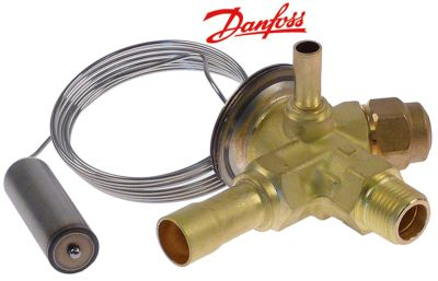 βαλβίδα εκτόνωσης DANFOSS  τύπος TEN2  ψυκτικό R134a  με γωνία 90° είσοδος 3/8