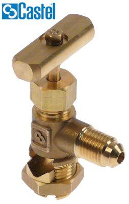 βαλβίδα διάτρησης σωλήνα CASTEL  τύπος 8330/A  σύνδεσμος 1/4