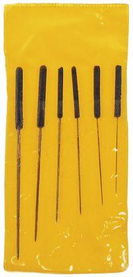 βελόνες καθαρισμού ακροφυσίου 6 τεμαχίων με πλαστική λαβή 0,6/0,8/1,0/1,3/1,6/2,0mm