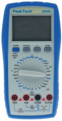 πολύμετρο PEAK TECH  2005DMM  εύρος ενδείξεων 4 ψηφία μη αυτόματο 100µV-600V
