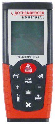 μετρητής αποστάσεων laser ROTHENBERGER  LASERMETER 35  εύρος μέτρησης 35m
