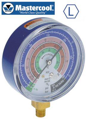 μανόμετρο μοντέλο EBL  σύνδεσμος 5/16″  ø 80mm κλάση 1.6 R22/R410a/R407c