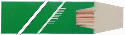 βέργα σκληρής συγκόλλησης κράμα χαλκού με 5% ασήμι Μ 500mm Μέγ. Θ 710°C 5 μέγεθος ø2x500 mm