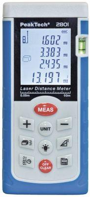 μετρητής αποστάσεων laser PEAK TECH  2801 εύρος μέτρησης 0,05-60m