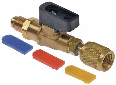 βάνα αερίου μπλε/κίτρινο/κόκκινο R12/R22/R502/R134a/R404a/R407c/R410a  ευθύ