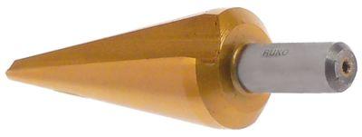 τρυπάνι κωνικό HSS Co5-TiN  εύρος διάτρησης 8-20mm Μ 71mm ø άξονα 8mm