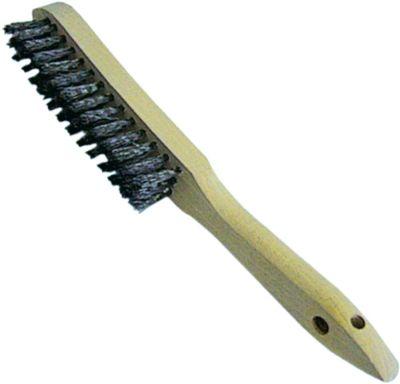 βούρτσα συρμάτινη W 30mm μήκος βούρτσας 140mm 3 σειρές συνολικό μήκος 290mm