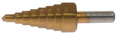 τρυπάνι HSS Co5-TiN  εύρος διάτρησης 6-20mm