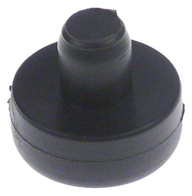 ποδαράκι ø 25mm H 10mm ø διάταξης στερέωσης 10mm συνολικό ύψος 20mm ελαστικό Ποσ. 1 τεμ.
