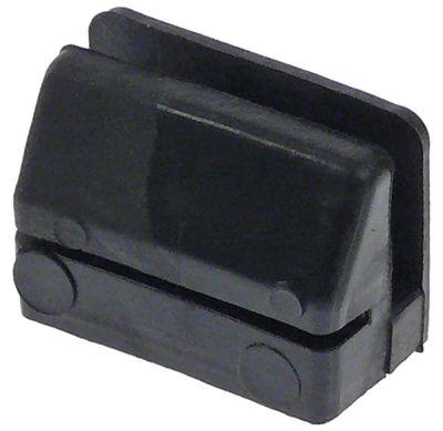 ποδαράκι ελαστικό ø  -mm H 22mm μετρήσεις στερέωσης 31x18 mm για συσκευή T80