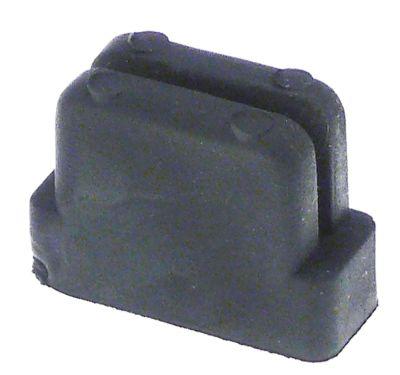 ποδαράκι ελαστικό ø  -mm H 21,5mm μετρήσεις στερέωσης 29x12 mm