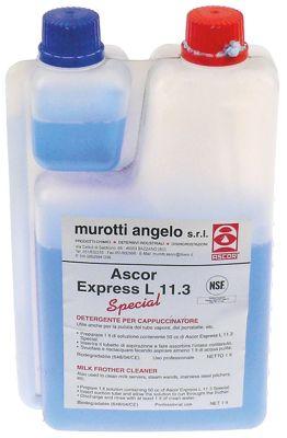 καθαριστικά συστήματος παραγωγής αφρόγαλου φιάλη ASCOR Express L11.3  έγκριση NSF  1000ml
